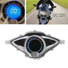 Motorcycle Bike LCD Digital Odometer Speedometer Tachometer Gauge Meter Device