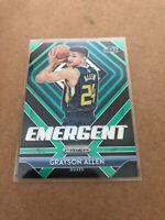 2018-19 Prizm Grayson Allen Green Emergent Refractor