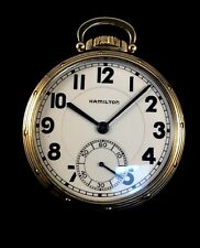 Hamilton 950E 23J 16s Railroad Pocket watch M# A Case Near Mint Condition