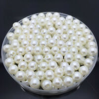 NEW 4mm 200Pcs Cream Acrylic Round Pearl Spacer Loose Beads Jewelry Making