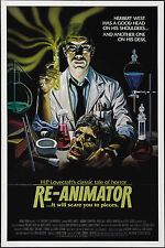 RE-ANIMATOR 1985 original one sheet movie poster JEFFREY COMBS/BRUCE ABBOTT