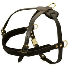 Leather English Bulldog Harness Weight Pulling Dog Harness Soft Padded Harness