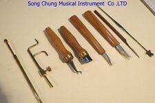 8pcs various Cello tools,soundpost retriever/setter/Gauge ,cutter,scraper etc.