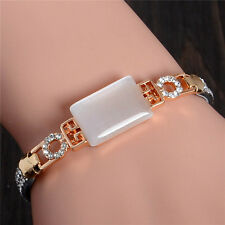 Hot Exquisite Opal 18k Gold Plated Shining Austrian Crystal Bangle Bracelet