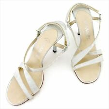 1c87d6652 Chanel Flip Flops New travel line Grey Woman Authentic Used T5721