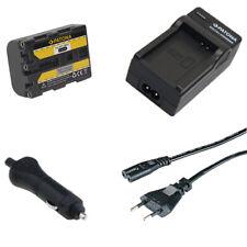 Batteria Patona + caricabatterie casa/auto per Sony DCR-HC14E,DCR-HC15,DCR-HC15E