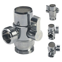3-way Diverter Valve Water Tap Connector Faucet Adapter Kitchen Sink Splitter
