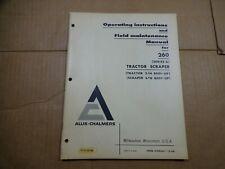 Allis Chalmers 260 series A Tractor Scraper Operators Maintenance Manual
