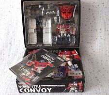 TransFormers THS-02 Die Cast Optimus Prime Convoy w Trailer Roller Takara Rare