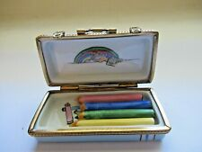 New ListingPeint Main Limoges Trinket-Artist Crayon Box