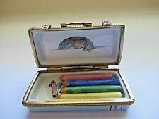 Peint Main Limoges Trinket-Artist Crayon Box