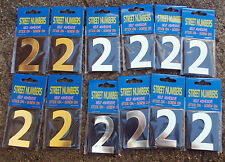"""House Number, Letterbox Number  """"2"""" bulk pack doz (12)- Self Adhesive free post"""