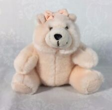 "Russ Berrie CHARMIN Plush Stuffed Teddy Bear Girl AMY 5"" sitting"