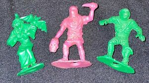 Vintage Halloween Plastic Figure Lot Witch Mummy & Executioner with Head