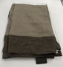Restoration Hardware Stonewashed Framed Linen Bed Skirt Twin Sable/Prairie $109