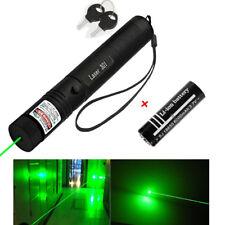 Bolígrafo Puntero Láser Verde 1mW 532NM Lámpara de luz visible +18650 Batería Lazer