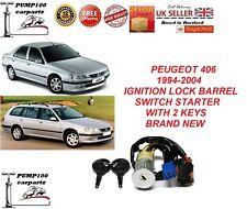 PEUGEOT 406 1999-2004  IGNITION LOCK BARREL SWITCH STARTER & 2 KEYS BRAND NEW