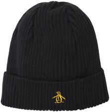 Original Penguin Basic Rib Beanie Hat - Black