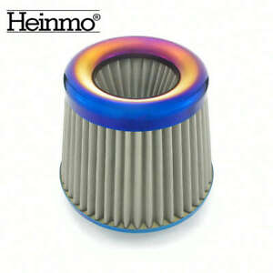 3inch/76mm Alumimum Car High Flow Cold Air Intake Filter Cleaner Universal Blue