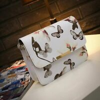 Women Floral Leather Shoulder Bag Satchel Handbag Retro Messenger Bag Famous New