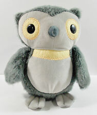 "Kohls Care for Kids Gray Owl 9"" Plush Stuffed 2012 Aesop's Fables Character"