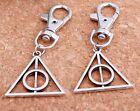 1pcs Hot Movie Harry Potter fixation Deathly Hallows Mini Metal Tool Key Chain