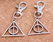 1pcs  Hot Movie Harry Potter fixation Deathly Hallows Mini Metal Tool Key Chain