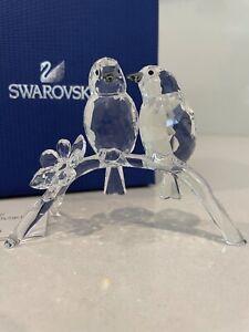 Swarovski Crystal White - Eye Birds 5249853 NIB ( Rare )
