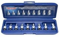 "VIM Tools SHI400 9 Piece 1/4"" Drive SAE 3/32"" - 3/8"" Stubby Hex Bit Set"