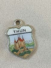 THUN Silver Travel Shield Enamel Charm