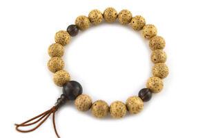 10mm Bodhi Seed Wood&Smoky Quartz Crystal Japan Juzu Bracelet Prayer Mala beads