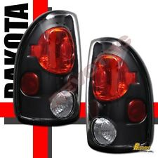 97-04 Dodge Dakota Black Tail Lights Lamps 1 Pair 98 99 00 01 02 03