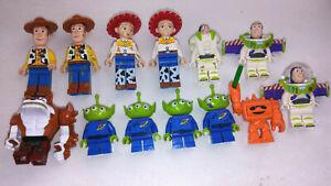 13 - Lego Toy Story Minifigure Lot Woody, Buzz Lightyear, Aliens, Jesse & more
