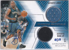 Chauncey Billups 2002 03 UD Series 2 Buyback Jersey Autograph /18