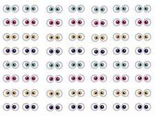 NOVELTY 56 x Small Eye Balls  Edible Cupcake Toppers, Fairy Cake Bun Decorations
