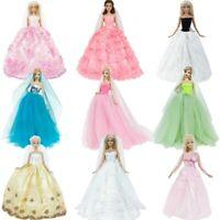 "Doll Wedding Dress Bridge Veil Handmade Princess Gown Party Clothes for 11.5-12"""