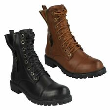 Women's Block Lace Up Combat Boots