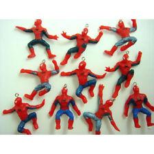 "NEW 10 pcs Spiderman Spider-man 1.8"" Jewelry Making Figures Pendant Charm SET"
