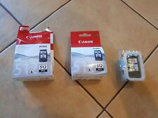 Canon ink black 512 black x2 and 511 color x1
