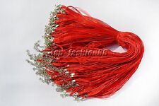 LOT 20X Organza Voile String Ribbon Necklace Silk Cords Red Adjust DIY Gift