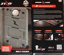 ZIZO Bolt Series Case for Moto Z Force / Gray -black Military Grade