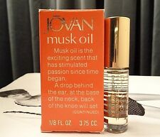 VINTAGE JOVAN MUSK OIL 1/8 FLUID OUNCE FULL IN BOX