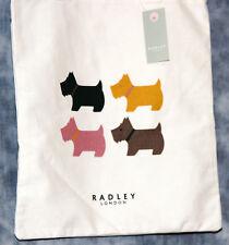 NEW RADLEY COTTON CANVAS FOUR DOG TOTE/SHOPPER BAG