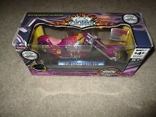 Boley Diecast Monster Chopper Motorcycle 2004 Flame Chopper Purple MISB 1:12