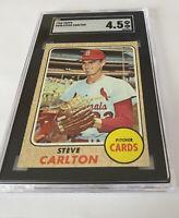 1968 Topps Baseball #408 Steve Carlton SGC 4.5 VG EX+