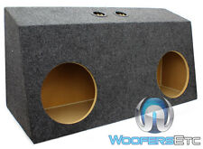 """DUAL 10"""" MST210 SEALED HARD TOP FORD MUSTANG SUBWOOFERS ENCLOSURE BASS BOX NEW"""
