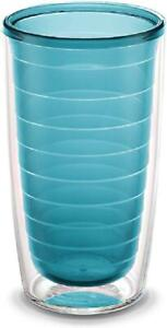 16 Oz Double-Wall Insulated Tumbler Clear Tritan Blue Moon Drinkware Glasses Kit