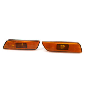 for Volvo S80 02-06 Pair Front Left + Right Side Marker Turn Signal Light Lamp