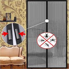 Lot De 1 Moustiquaire Rideau Magnétique Aimantée Magneto Mesh Design Noir Neuf
