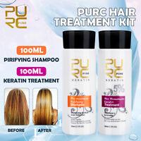 PURC Brazilian Keratin Hair Straightening Treatment Conditioners + Shampoo Kit